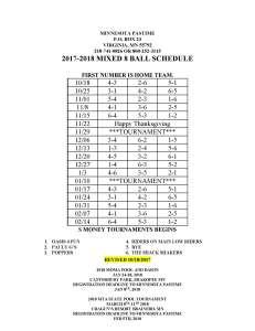 2017-2018 mixed schedule
