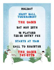 OASIS HOLIDAY TOURNAMENT
